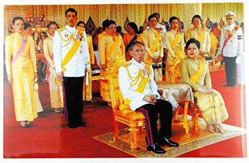 タイ国王のお姿ステッカー 王族一同 26.5×17.0cm