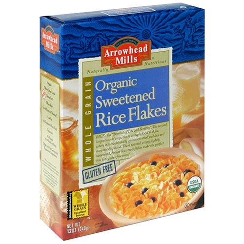 Arrowhead Mills Organic Sweetened Rice Flakes, Gluten Free, 12-Ounce Boxes (Pack of 6) (Grain Mill Back To Basics compare prices)