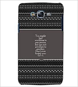 PrintDhaba Quote D-4677 Back Case Cover for SAMSUNG GALAXY J7 (Multi-Coloured)