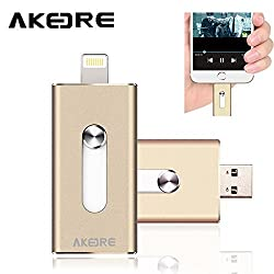 Flash Drive ,AKEDRE® [IOS9 Compatible] 32GB Full Capacity Disk HD U-dick, OTG USB Flash Drive For Apple IPhones, IPads, IPod Mac& Computers