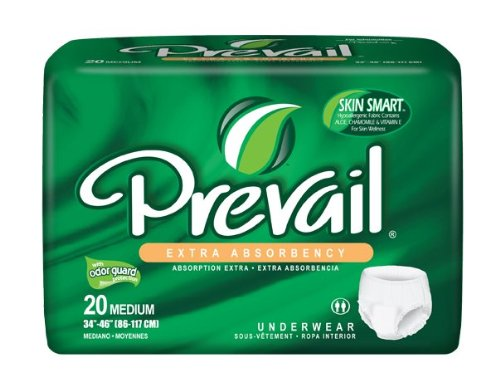 Prevail Extra Absorbency Underwear, Medium, 20-Count (Pack Of 4) front-60293