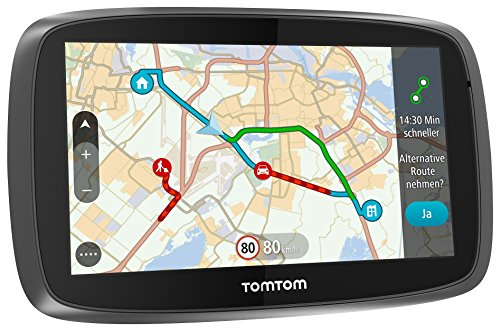TomTom Go 5100 World Navigationssystem (13 cm (5 Zoll) kapazitives Touch Display, Magnethalterung, Sprachsteuerung, mit Traffic/Lifetime Weltkarten)