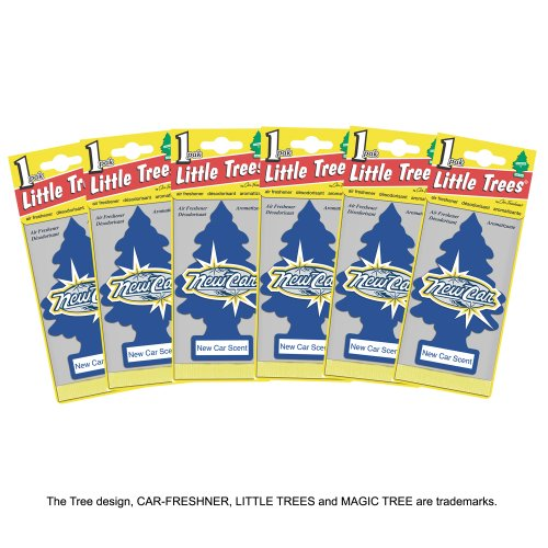 LITTLE TREES Air Fresheners New Car Scent (6 Pieces)