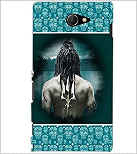 PrintDhaba Trishul D-3066 Back Case Cover for SONY XPERIA M2 (Multi-Coloured)