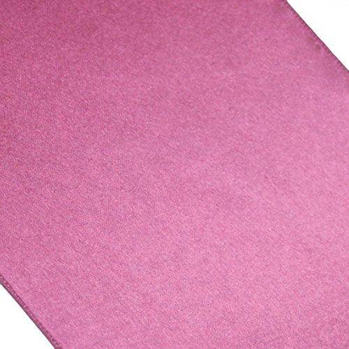 Koyal Satin Table Runner, 12-Inch X 108-Inch, Pink