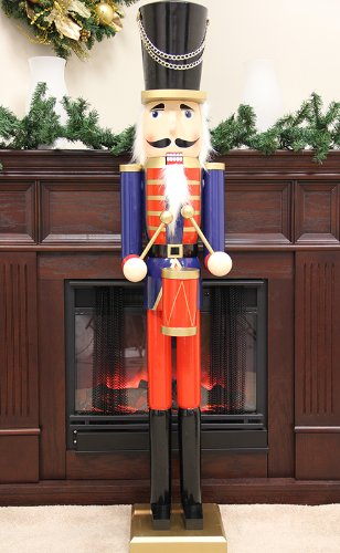 6 Foot Commercial Size Drummer Soldier Decorative Wooden