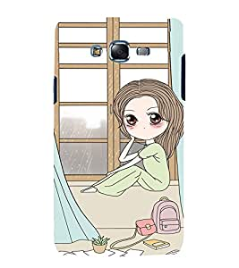 Fuson Premium Back Case Cover cute girl near window With Green Background Degined For Samsung Galaxy Grand i9080:::Samsung Galaxy Grand i9082