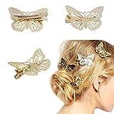 Meily® Golden Butterfly Hair Clip Headband Hair Accessories