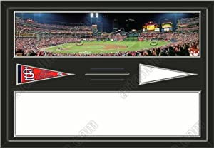 St. Louis Cardinals Busch Stadium & Your Choice Of Stadium Panoramic Framed-House... by Art and More, Davenport, IA