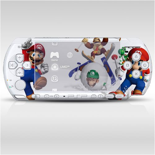 Pacers Super Mario Decorative Protector Skin Decal Sticker For Psp-3000 Item No.0859-27