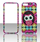 2D Colorful owl Case Apple Iphon 5, 5s at&t. Verizon, Sprint, C Spire Case Cover Hard Phone case Snap-on Cover Rubberized Touch Faceplates