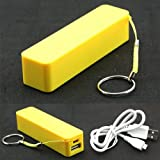 Hot Perfume Universal 2600mAh USB MP3 External Battery POWER Charger Yellow