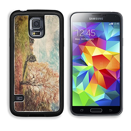 Samsung Galaxy S5 Aluminum Case Autumn fall park Green