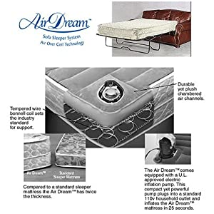 Amazon Queen Air Dream Sleeper Sofa Replacement Mattress Air Bed Mattresses