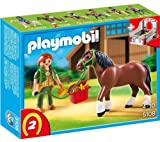 PLAYMOBIL 5108 - Shire Horse with Groomer and Stable 5108 ( The PLAYMOBIL 5108 - Shire Horse with Groomer and Stable is a lovelycollector's item... )