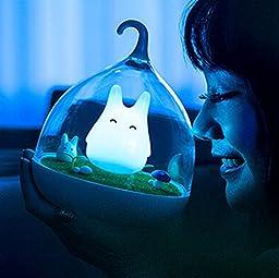 WOM-HOPE® Animal Children\'s Night Lights Hand-held Design Touch Sensor Vibration Birdcage Lamp Bird Night Lights - Charging - for Kids, Baby ,Valentines Gift,Outdoor Lamp (Blue (B))