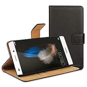 V.T.C. Huawei P8lite / LUMIERE 503HW ケース カバー 手帳型 レザースタンドケース ブラック