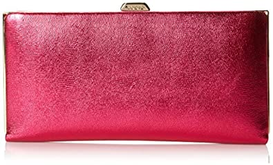 Lodis Clearlake Quinn Clutch Wallet,Magenta,One Size
