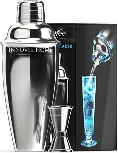 Innovee-Cocktailshaker-Set-Premium-Bar-Kit-mit-kostenlosem-Messbecher-und-Cocktailrezepte-Ebook-07L-Professioneller-Edelstahl-Cocktail-Shaker-Mixer-mit-Sieb