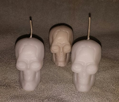 001 Small Skull Votive Candles- Set of 3