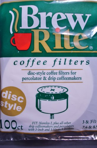 "Disc Coffee Filter 3.5"" And 3"" Percolator 1/2 Case 600 Count Ct Brew Rite U.S.A."