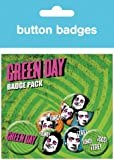 Posters: Green Day Badge Pack - Uno Dos Tres, 4 X 25mm & 2 X 32mm Badges (6 x 4 inches)