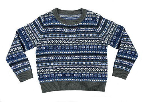 Per bambini e bambine, motivo: Fair Isle-Maglione di lana Blend-Made in Scotland by Glen Appin blu 2 Yrs