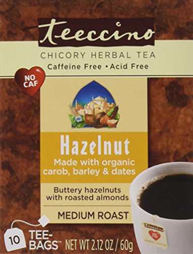 Teeccino Variety Pack (Vanilla Nut and Hazelnut) Chicory Herbal Tea Bags, Caffeine Free, Acid Free, 10 Count (Pack of 6) (Low Acid Instant Decaf Coffee compare prices)
