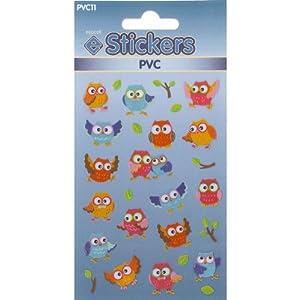 PVC Owl Stickers