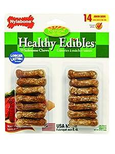 Nylabone Healthy Edibles Mini Roast Beef Flavored Dog Treat Bones