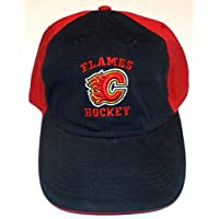 Calgary Flames Slouch Strap Back Reebok Hat - Osfa