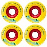 Orangatang Kilmer 69mm 86a Yellow Longboard Skateboard Wheels Set of 4 New by Orangatang