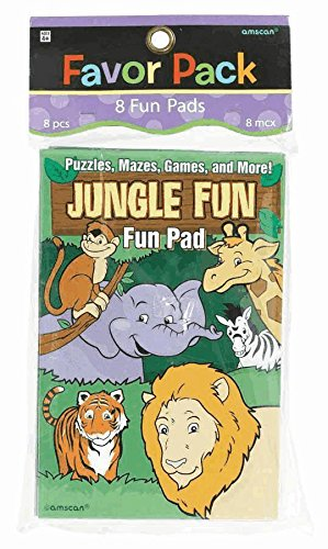 jungle animals fun pads 8 pack