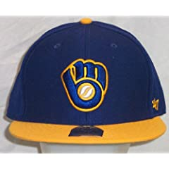 Milwaukee Brewers Royal Hole Shot Two Tone 47 Pro Wool Cooperstown Retro Fitted Cap... by