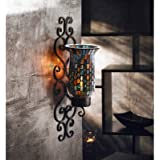 American Atelier Mosaic Glass and Metal Wall Lighting Sconce, 4-3/4 by 5 by 16-Inch
