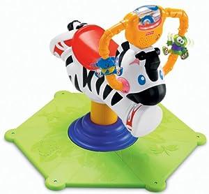 Amazon.com: Fisher-Price Go Baby Go! Bounce & Spin Zebra: Toys & Games