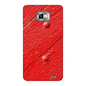 Red Texture Wood Designer Back Case Cover for Galaxy S2