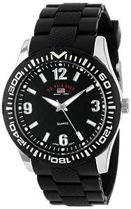 U.S. Polo Assn. Sport Men's US9077  Black Rubber Analog Watch