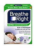 Breathe Right Extra Clear for Sensitive Skin, 26 Count x Multipack of 3
