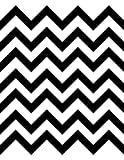 Decorative Contact Paper Self Adhesive Shelf Liner - Black Chevron Design 2 Pack 18x6