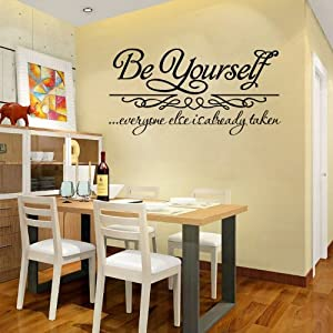 DIY Large Be Yourself Inspirational Quotes Wall Art Sticker Art
