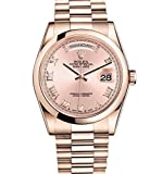 Rolex Day-Date President 36mm Everose Gold Watch 118205 Pink Dial 2016
