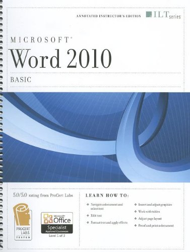 Word 2010: Basic + Certblaster (ILT)