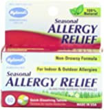 Hyland's Natural Seasonal Allergy Relief Tablets, Non-Drowsy Indoor & Outdoor Allergy Relief, 60 Count