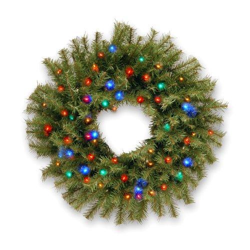 """Norwood Fir 24"""" Pre-Lit Wreath"""