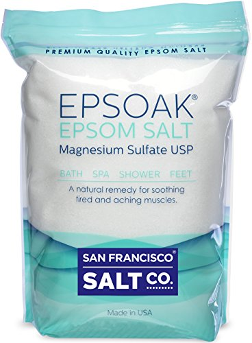 Epsoak Epsom Salt 19.75 Lbs - 100% Pure Magnesium Sulfate, Made in USA