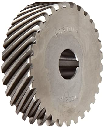 Boston Gear H2020L Plain Helical Gear, 45 Degree Helix, 14.5 Degree Pressure Angle, 0.500 Bore, 20 Pitch, 20 Teeth, Steel, LH