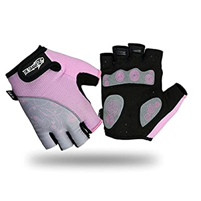 Ladies Cycling Gloves MTB Bike Half Finger Bicycle Palm Gel Silicone Fingerless FREE DELIVERY UK by Be Smart Sports