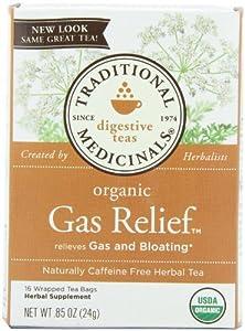Traditional Medicinals Organic Tea Gas Relief 16 tea bags