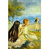 Art Panel - Girls By The Seaside By Renoir - B00PXK795G